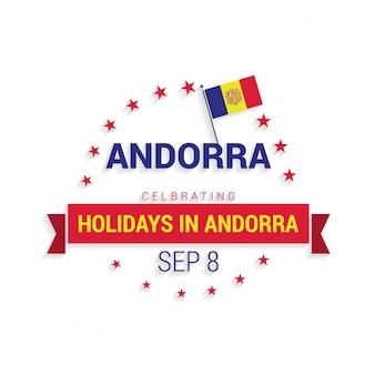 Jour de l'indépendance d'andorra patriotic banner vector illustration