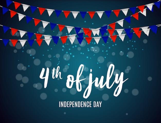 Le jour de l'indépendance aux etats-unis peut être utilisé comme bannière ou poster