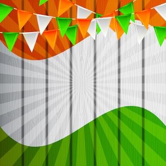 Jour de l'indépendance de la carte vierge d'indien