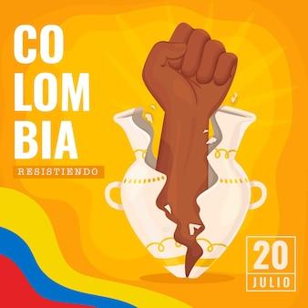 Jour de l'indépendance colombie flat