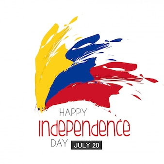 Jour de l'indépendance colombie.
