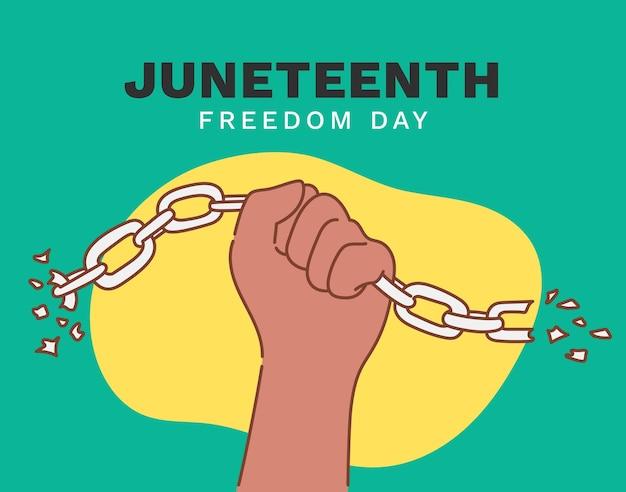 Jour de l'indépendance du 17 juin, jour de la liberté. fête américaine annuelle, célébrée le 19 juin. histoire et patrimoine afro-américains.