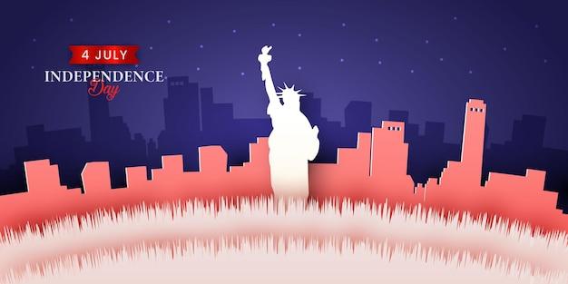 Jour de l'indépendance du 4 juillet fond