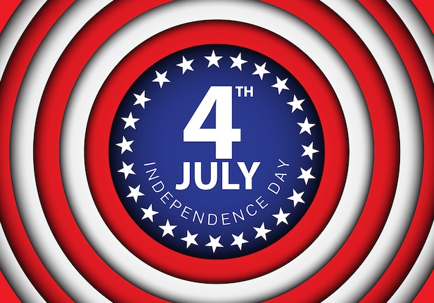 Jour de l'indépendance du 4 juillet de l'illustration vectorielle de célébration des vacances des états-unis