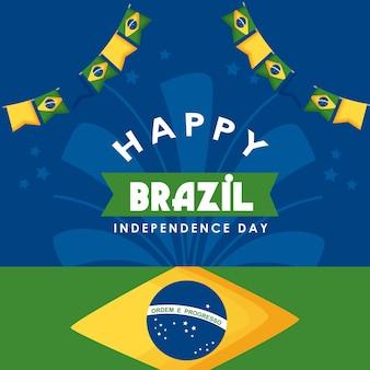 Jour de l'indépendance du brésil avec des guirlandes