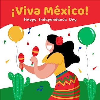Jour de l'indépendance du concept du mexique