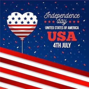 Jour de l'indépendance du design plat