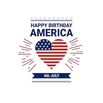 Jour de l'indépendance du drapeau des états-unis