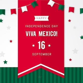 Jour de l'indépendance du mexique concept