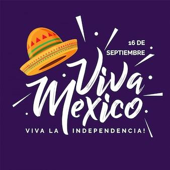 Jour de l'indépendance du mexique simple de chapeau