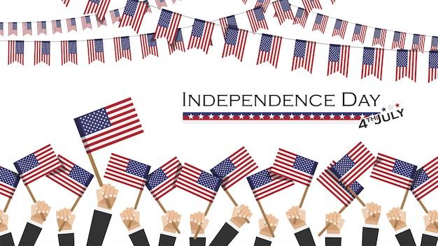 Jour de l'indépendance des etats-unis (4 juillet)
