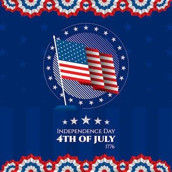 Jour de l'indépendance états-unis d'amérique 4 juillet contexte patriotique