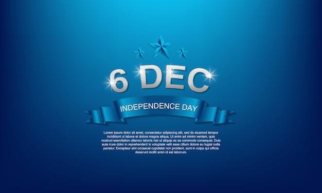 Jour de l'indépendance de la finlande le 6 décembre.