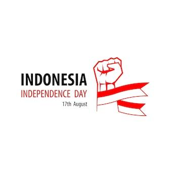 Jour de l'indépendance de l'indonésie design vector