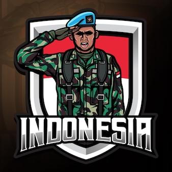 Jour de l'indépendance de l'indonésie avec illustration de la force de l'armée
