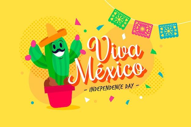 Jour de l'indépendance plat au mexique