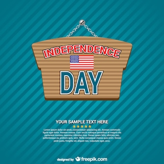 Jour de l'indépendance signe vecteur