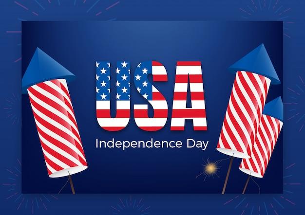 Jour de l'indépendance des usa. fête du 4 juillet