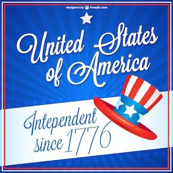 Jour de l'indépendance vecteur libre