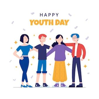 Jour de la jeunesse dessiné à la main