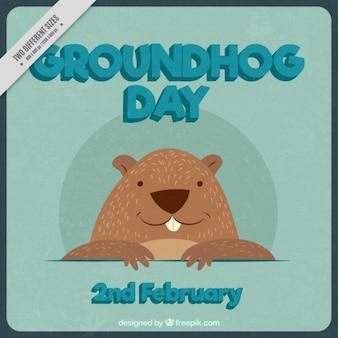 Jour de la marmotte vintage background
