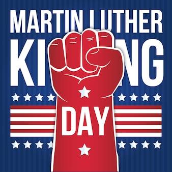 Jour de martin luther king design plat