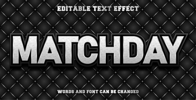 Jour de match d'effet de texte modifiable