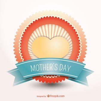 Jour meilleur insigne de vecteur de mère heureux
