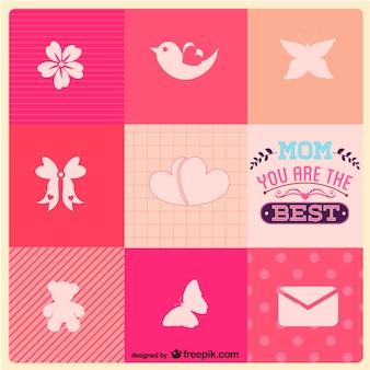Le jour de mère icônes gratuites modèle