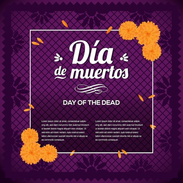 Jour mexicain des morts - modèle d'espace de copie