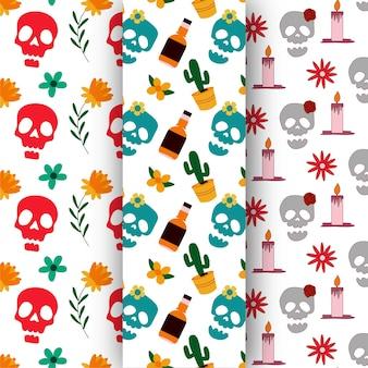 Jour des morts modèle sans couture