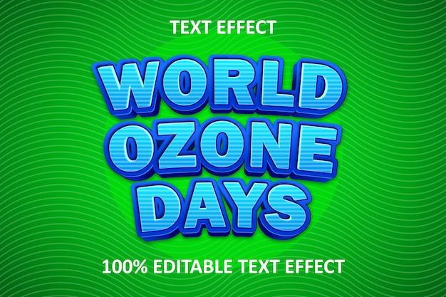 Jour de l'ozone à effet de texte modifiable comique