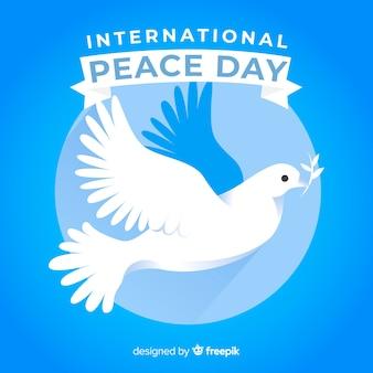 Jour de paix design plat avec colombe