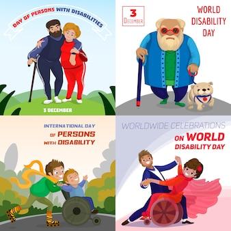 Jour personnes handicapées arrière-plans