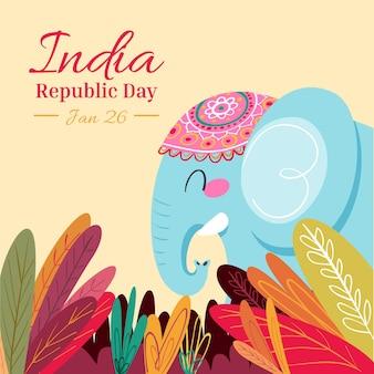 Jour de la république dessiné à la main