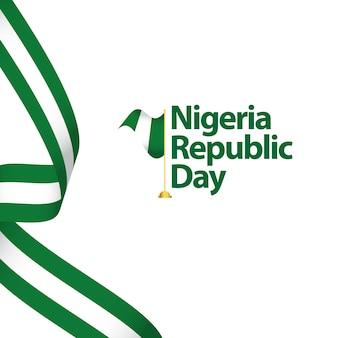 Jour de la république du nigeria vector illustration design illustration