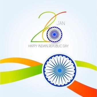 Jour de la république de l'inde. 26 janvier fond indien