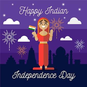 Jour de la république indienne au design plat