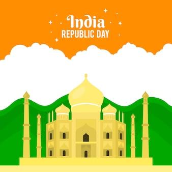 Jour de la république indienne colorée