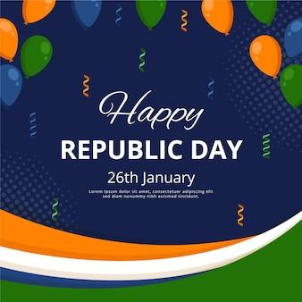 Jour de la république indienne design plat