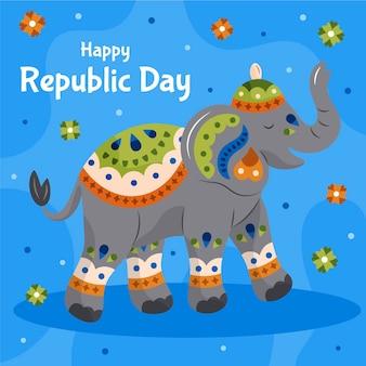 Jour de la république indienne dessiné à la main