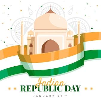 Jour de la république indienne plat