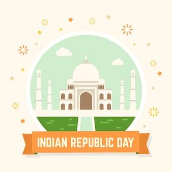 Jour de la république indienne plate