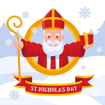 Jour de la saint nicolas design plat