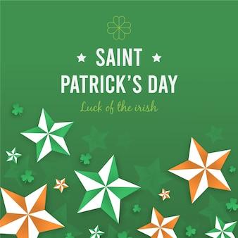 Jour de saint patrick plat coloré