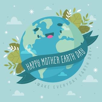 Jour de la terre mère dessiné à la main