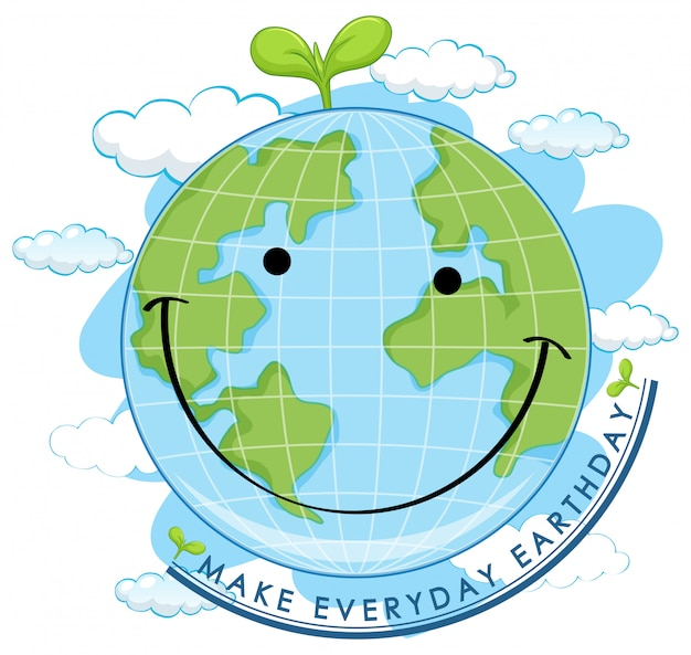 Jour de la terre souriant