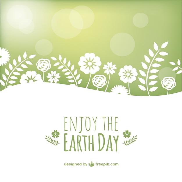 Jour de la terre vecteur paysage