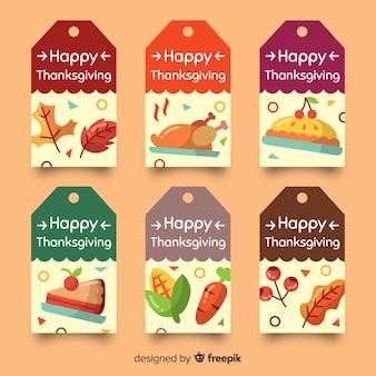 Jour de thanksgiving collection style dessiné à la main