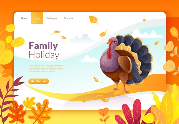 Jour de thanksgiving page de destination